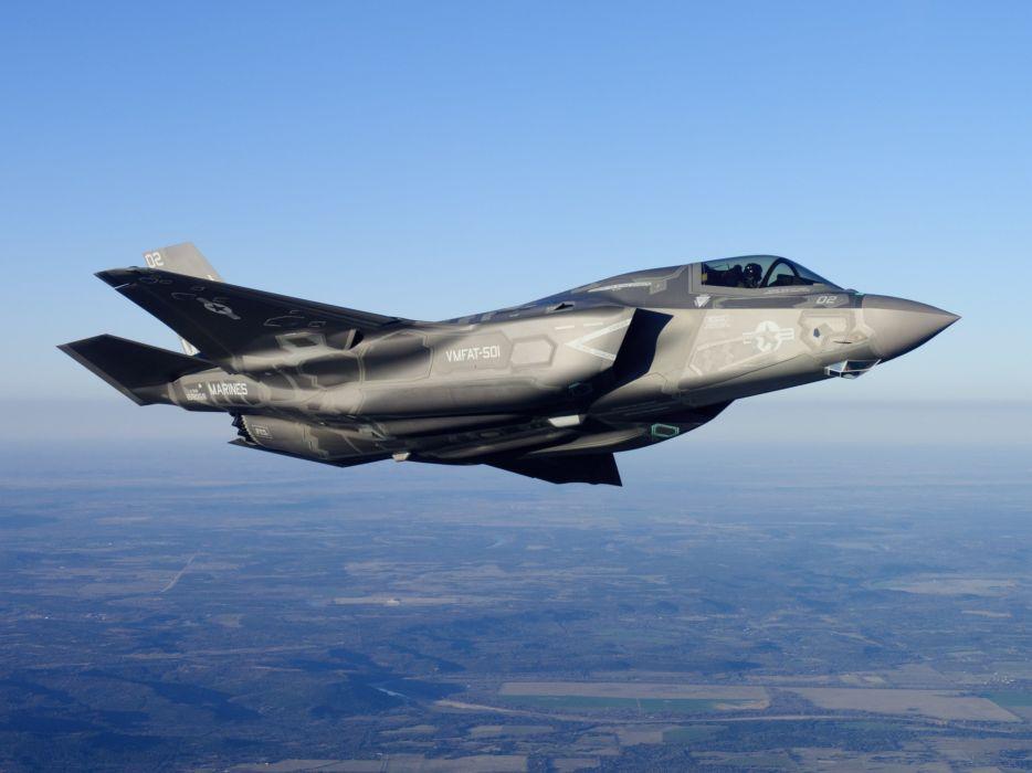F-35 military fighter jet airplane plane lightning bomber joint (80) wallpaper