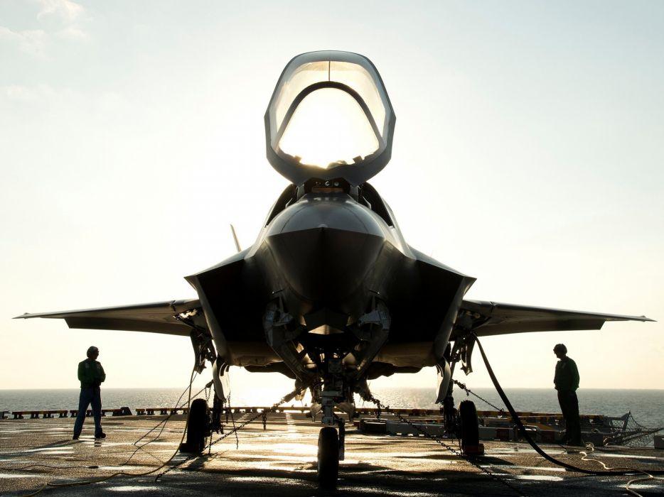 F-35 military fighter jet airplane plane lightning bomber joint (84) wallpaper