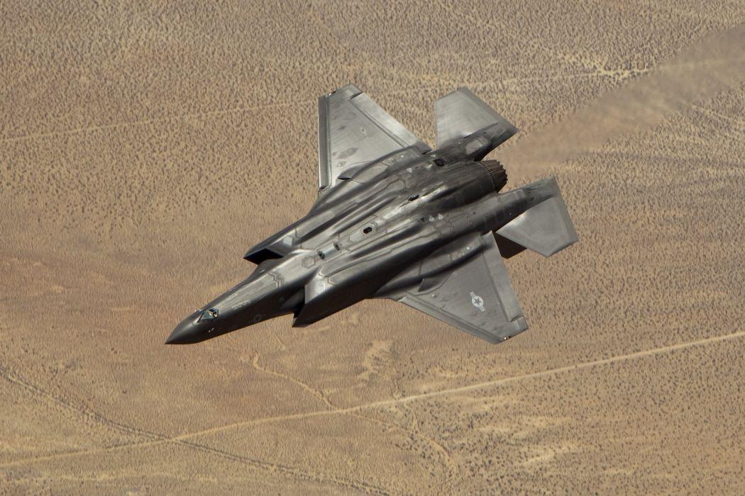 F-35 military fighter jet airplane plane lightning bomber joint (89) wallpaper