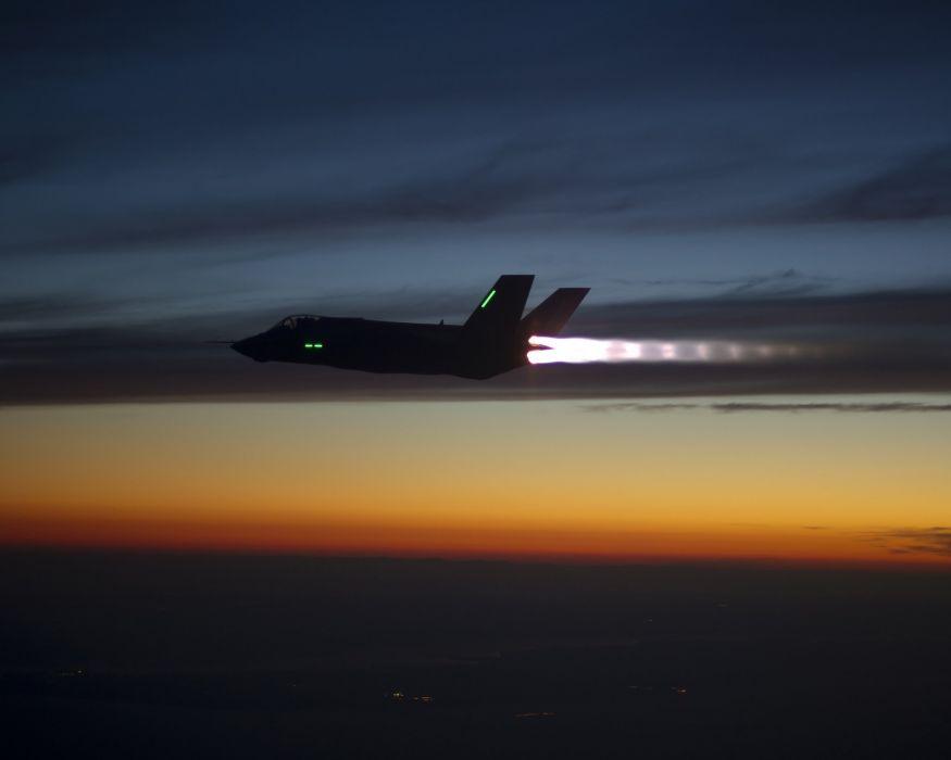 F-35 military fighter jet airplane plane lightning bomber joint (92) wallpaper