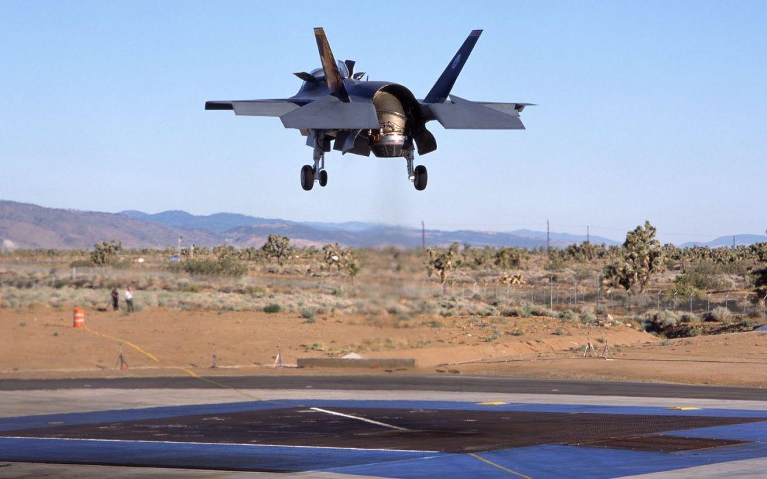F-35 military fighter jet airplane plane lightning bomber joint (97) wallpaper