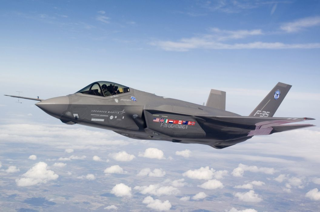 F-35 military fighter jet airplane plane lightning bomber joint (95) wallpaper