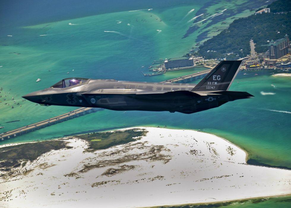 F-35 military fighter jet airplane plane lightning bomber joint (98) wallpaper