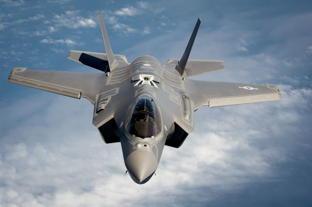 F-35 military fighter jet airplane plane lightning bomber joint (93) wallpaper