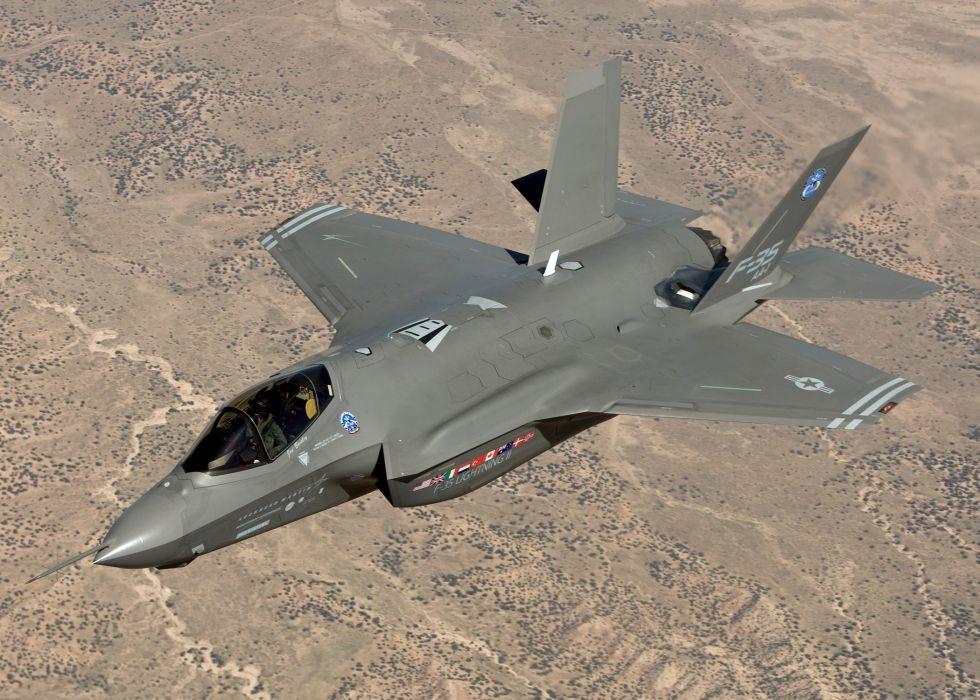F-35 military fighter jet airplane plane lightning bomber joint (96) wallpaper