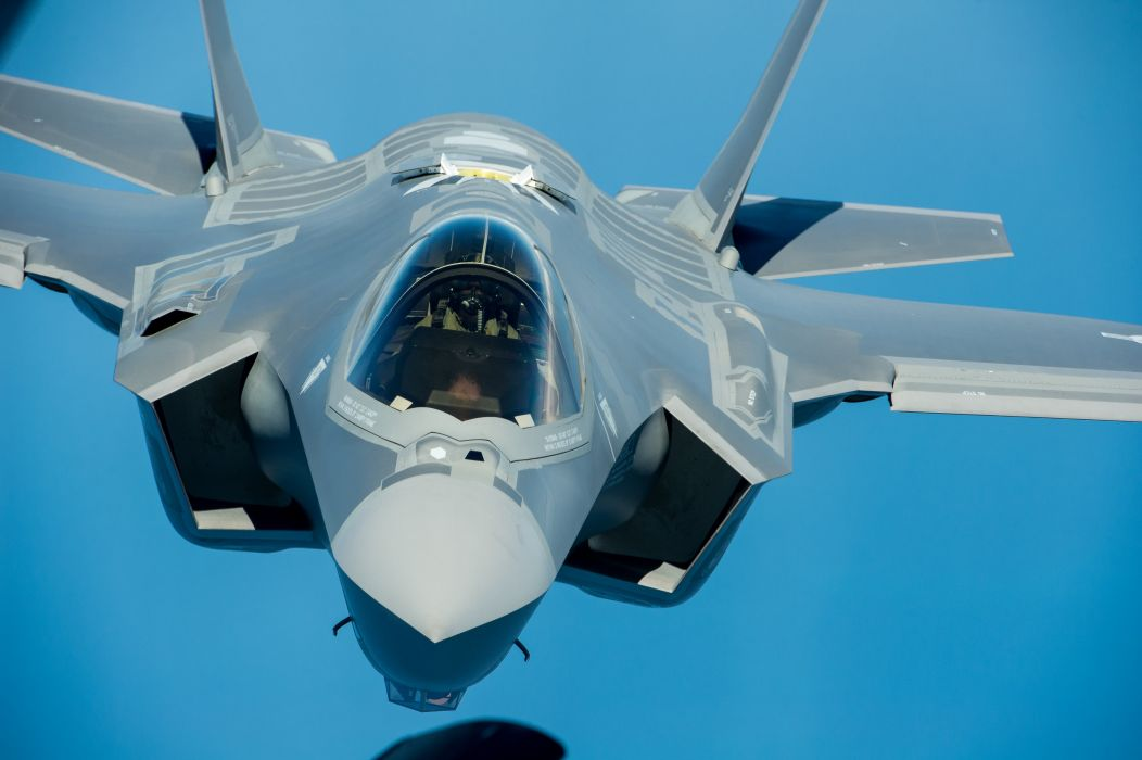 F-35 military fighter jet airplane plane lightning bomber joint (94) wallpaper