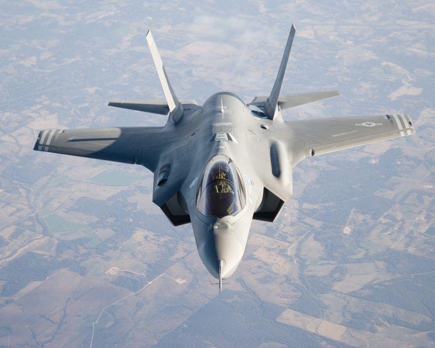 F-35 military fighter jet airplane plane lightning bomber joint (102) wallpaper