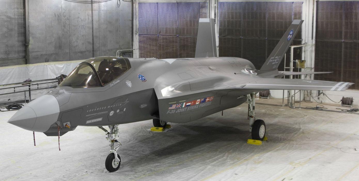 F-35 military fighter jet airplane plane lightning bomber joint (99) wallpaper