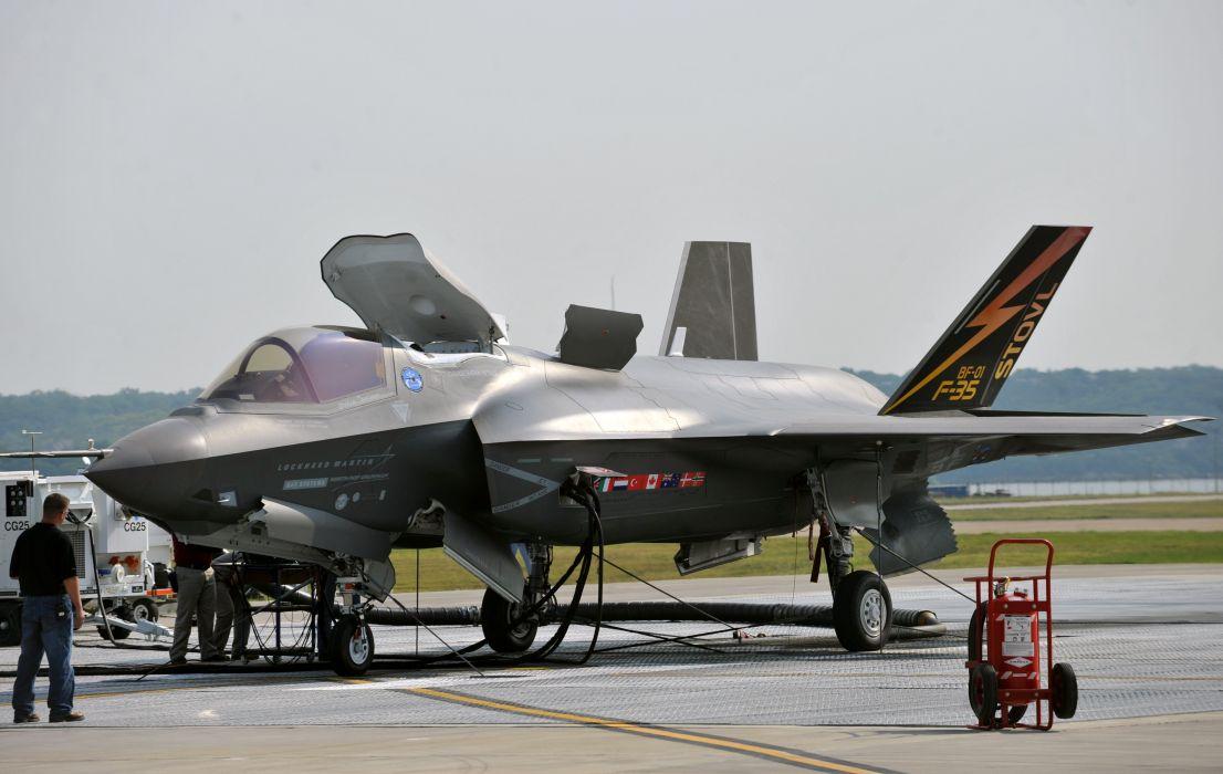 F-35 military fighter jet airplane plane lightning bomber joint (101) wallpaper