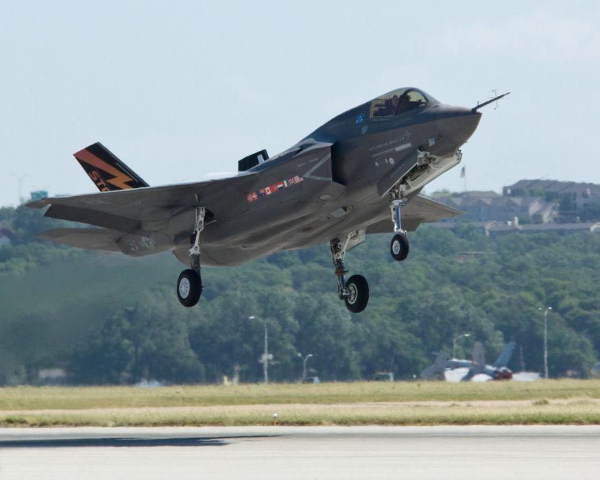 F-35 military fighter jet airplane plane lightning bomber joint (100) wallpaper
