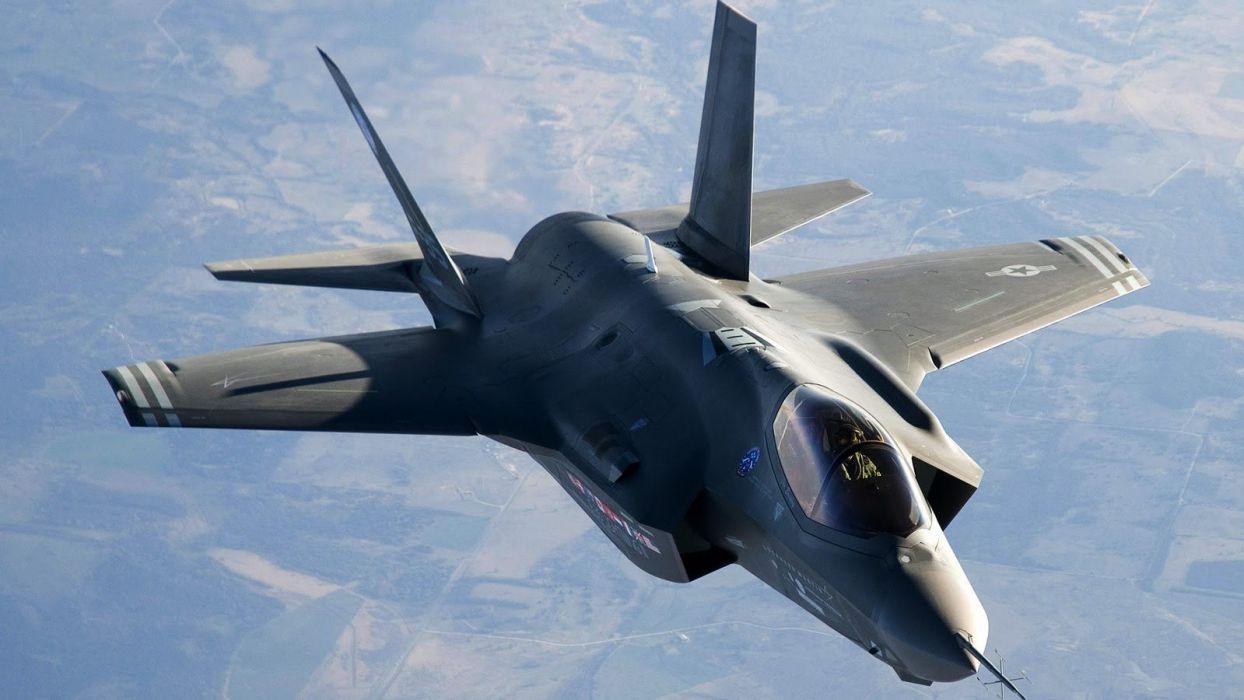 F-35 military fighter jet airplane plane lightning bomber joint (108) wallpaper