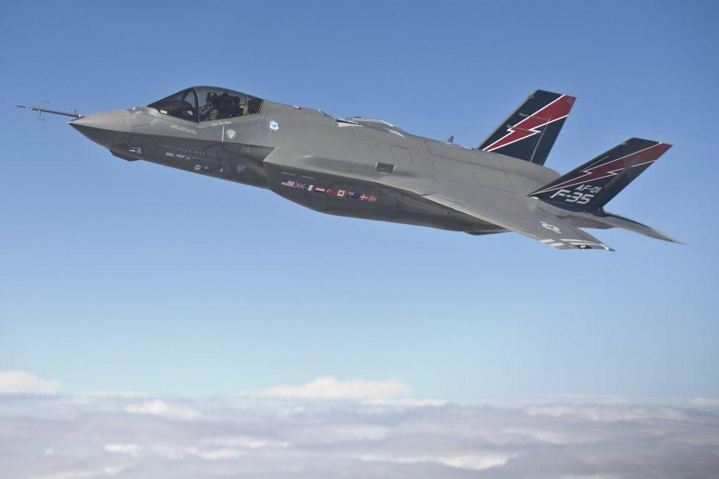 F-35 military fighter jet airplane plane lightning bomber joint (107) wallpaper