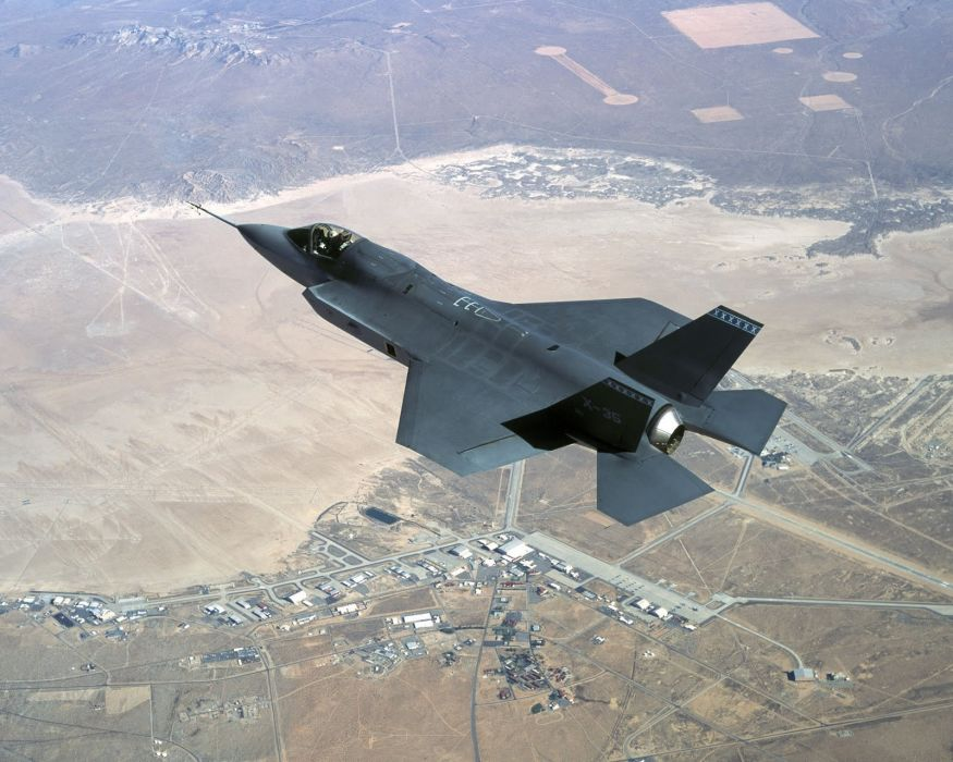F-35 military fighter jet airplane plane lightning bomber joint (114) wallpaper