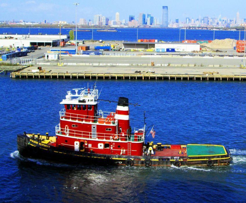 TUGBOAT ship boat tug marine (17) wallpaper