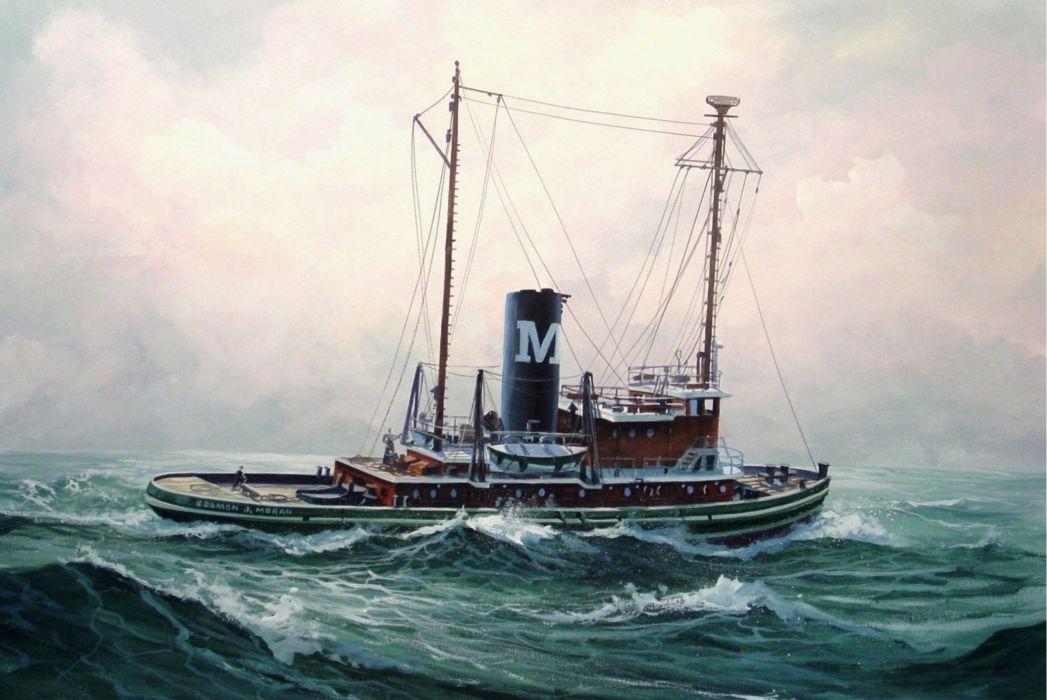 TUGBOAT ship boat tug marine (34) wallpaper