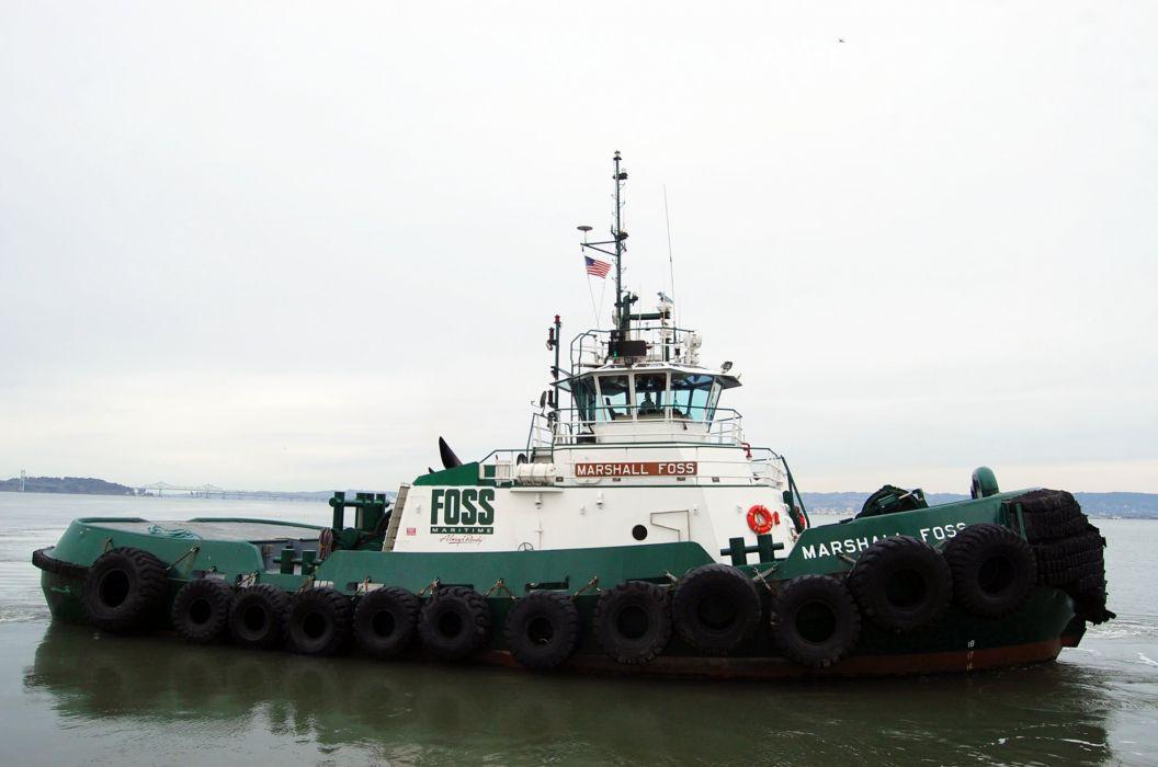TUGBOAT ship boat tug marine (70) wallpaper