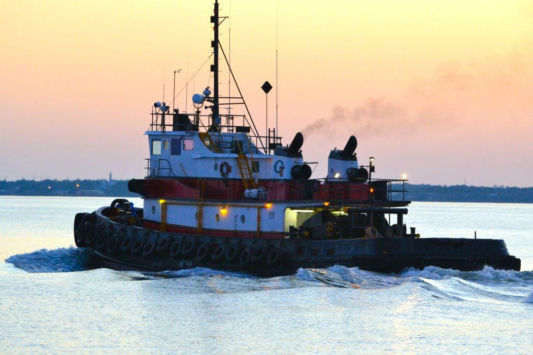 TUGBOAT ship boat tug marine (92) wallpaper