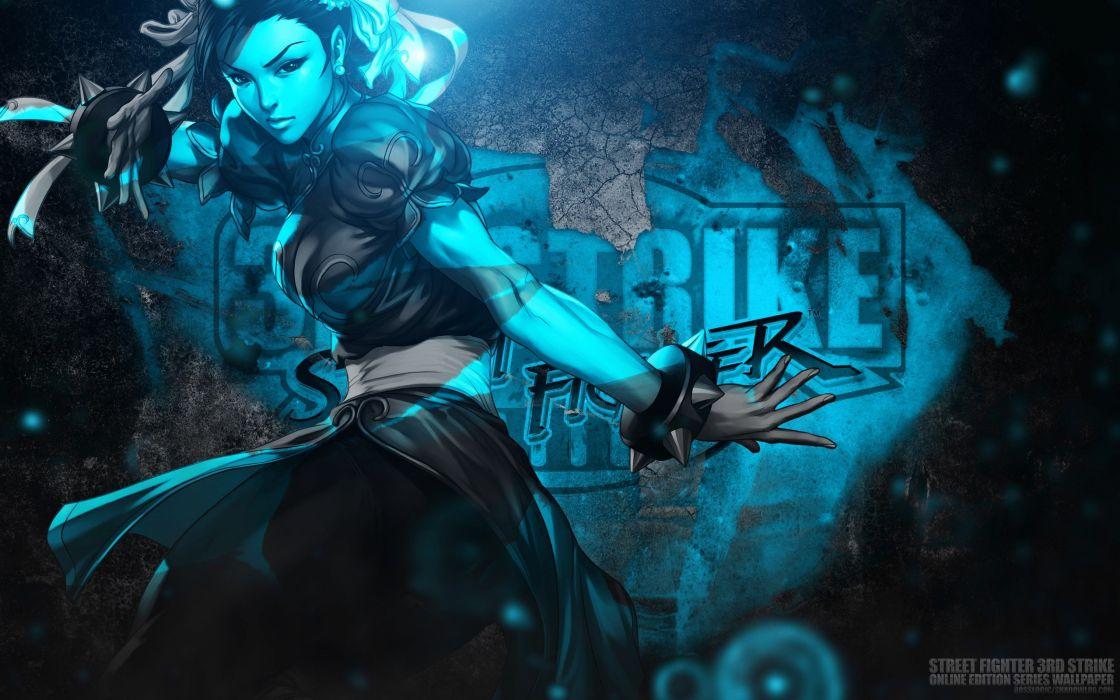 Chun-Li Bosslogic Artgerm Street Fighter III: 3rd Strike Online Edition wallpaper