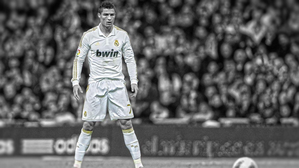 soccer Real Madrid HDR photography Cristiano Ronaldo cutout Ronaldo wallpaper