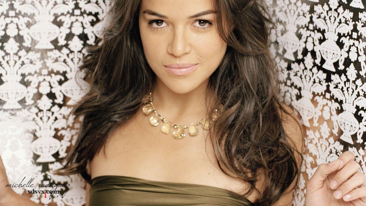 brunettes women models Michelle Rodriguez wallpaper