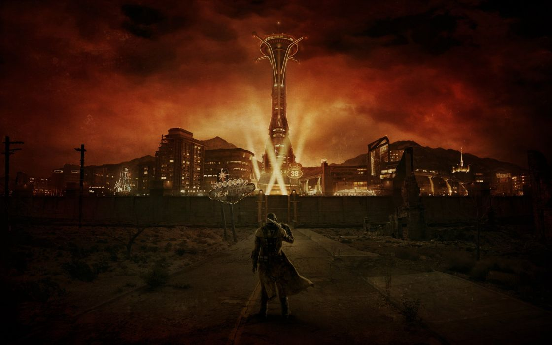 video games Fallout New Vegas concept art wallpaper