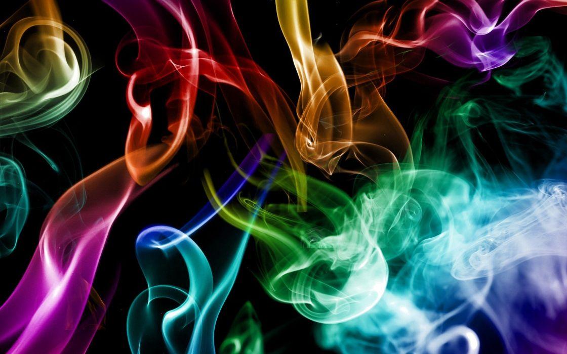 abstract smoke rainbows artwork wallpaper