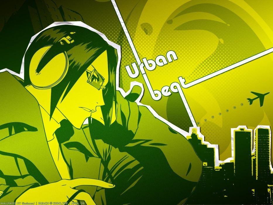 headphones green Bleach Ishida Uryuu wallpaper