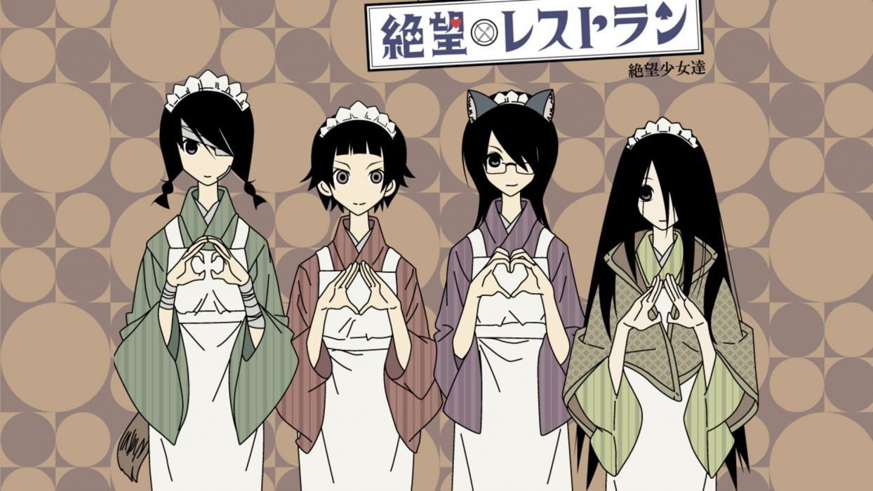 Sayonara Zetsubou Sensei Komori Kiri Fujiyoshi Harumi hair band black hair Kobushi Abiru Tsunetsuki Matoi wallpaper