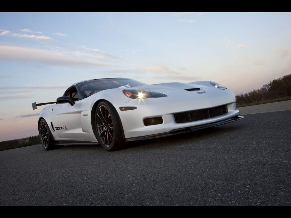 cars concept art track Chevrolet Corvette Chevrolet Corvette Z06X wallpaper