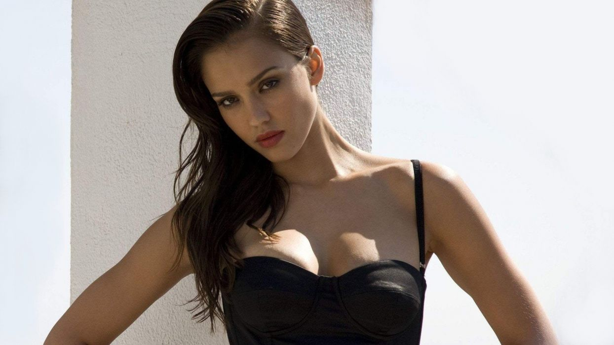 women Jessica Alba actress cleavage wallpaper