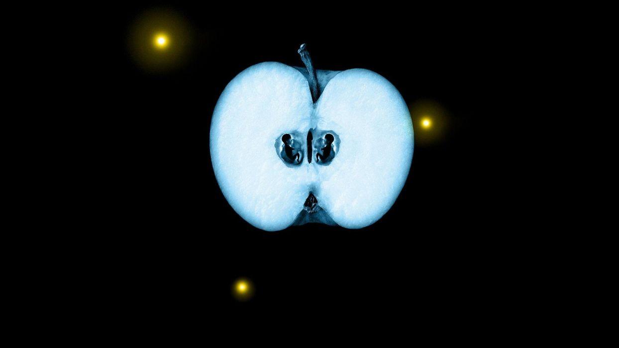 science dark Fringe apples sliced wallpaper