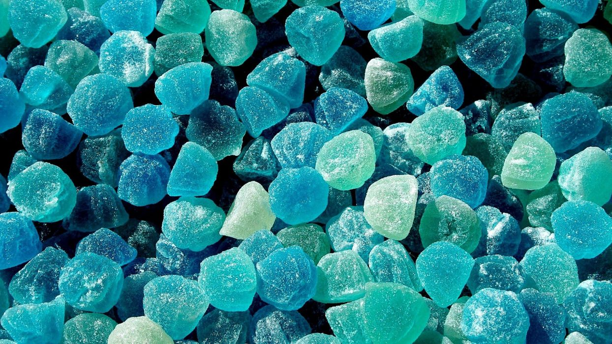 blue jelly candies wallpaper