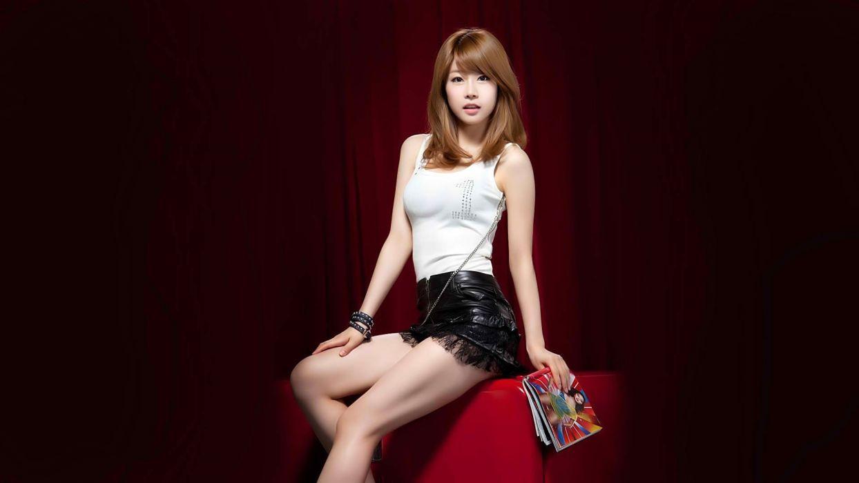 women redheads magazines Asians Korean K-Pop wallpaper