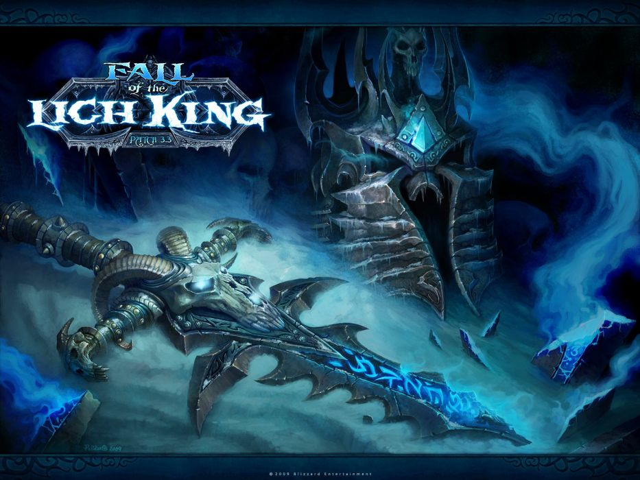 World of Warcraft Lich King frostmourne wallpaper
