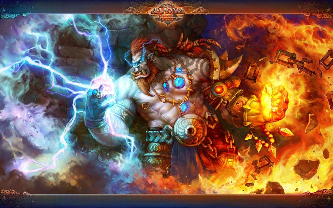 legend fantasy art Allods Online orc wallpaper