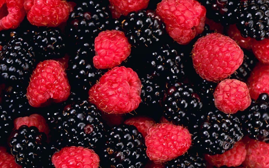 fruits raspberries blackberries wallpaper