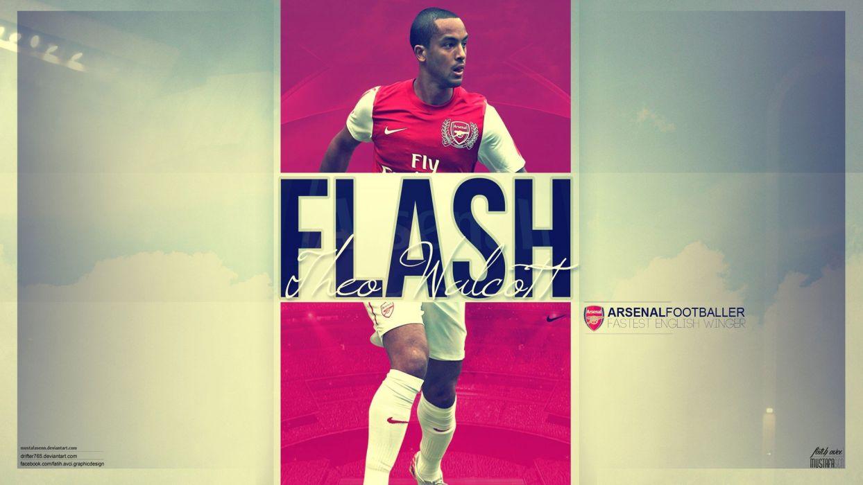 sports soccer Arsenal FC Walcott arsenal theo walcott football players wallpaper