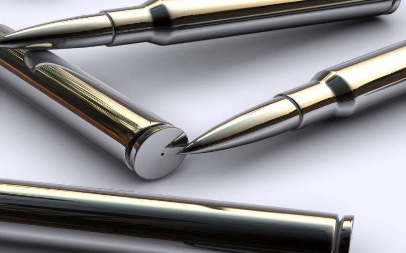 close-up 3D view ammunition wallpaper
