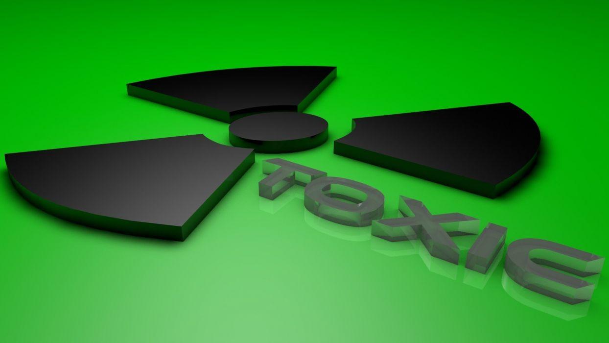 green poison toxic logos toxic waste wallpaper
