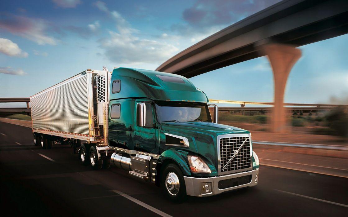 green trucks Volvo Freeway wallpaper