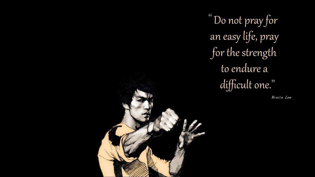 Bruce Lee quotes artwork black background wallpaper