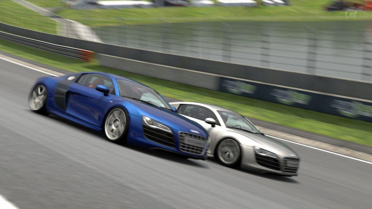 video games cars vehicles Audi R8 Gran Turismo 5 Quattro Playstation 3 wallpaper