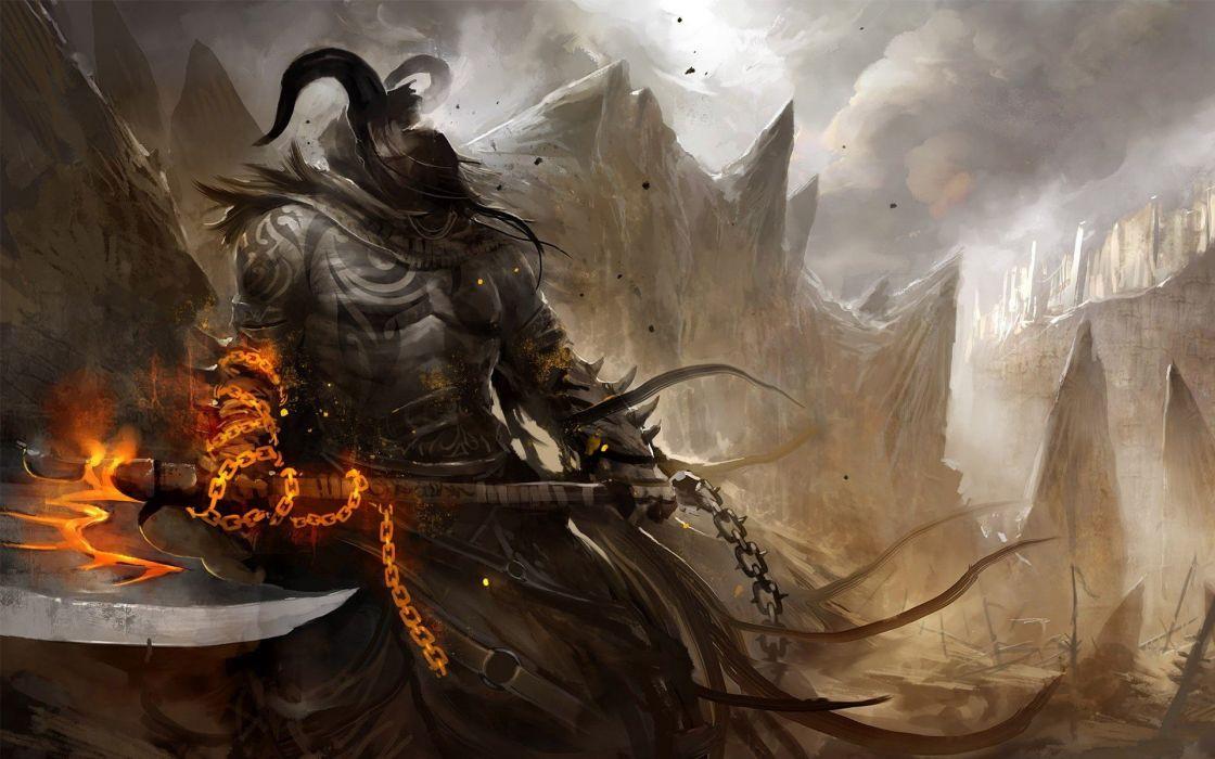 soldiers fire fantasy art armor artwork warriors wallpaper