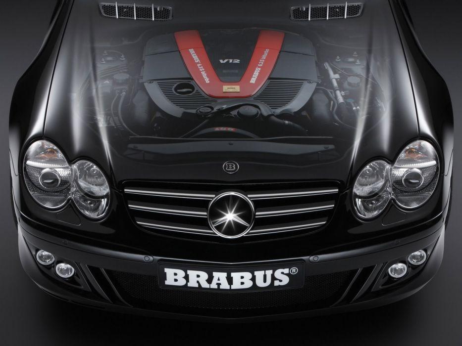 Brabus cutaway roadster class Mercedes Benz hood Mercedes Benz sl wallpaper