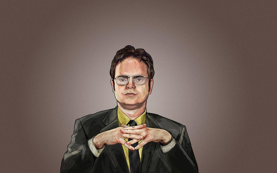 The Office Dwight Schrute Rainn Wilson simple background fan art wallpaper
