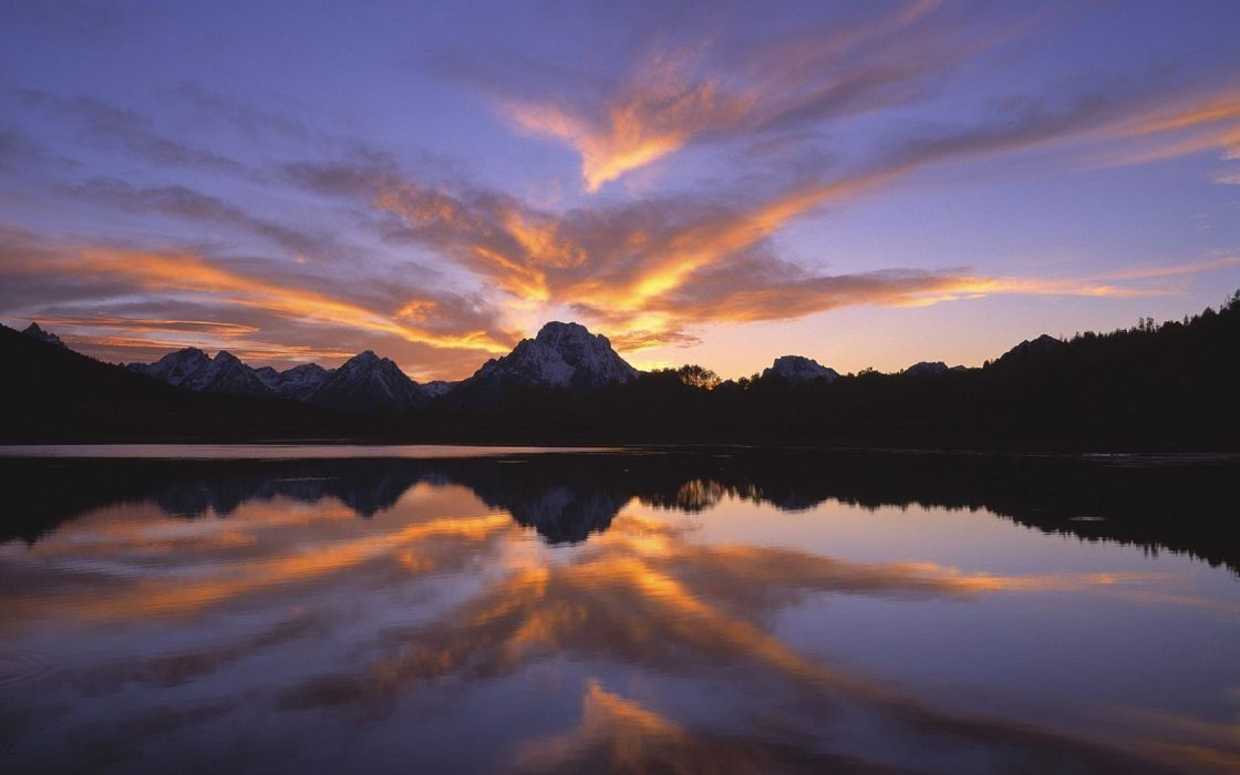 landscapes nature serene Wyoming Grand Teton National Park National Park reflections wallpaper