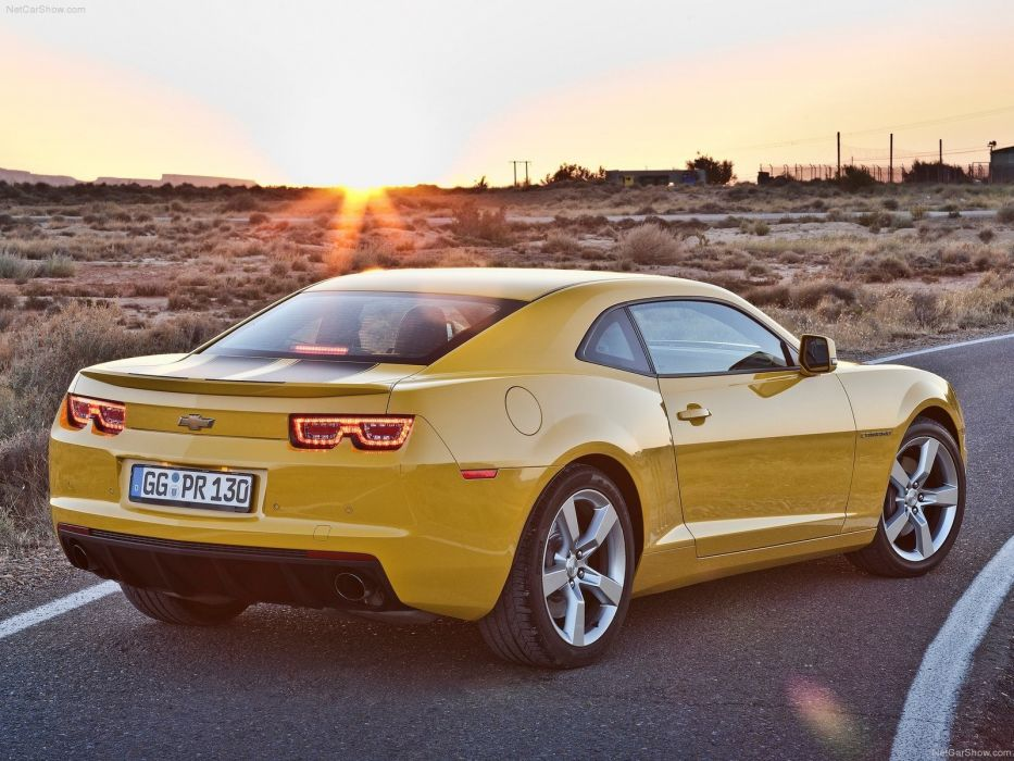 muscle cars Chevrolet vehicles Chevrolet Camaro yellow cars wallpaper