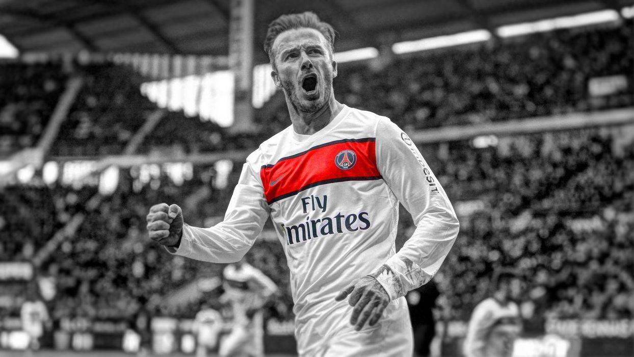 soccer David Beckham HDR photography selective coloring Paris Saint-Germain F_C_ wallpaper