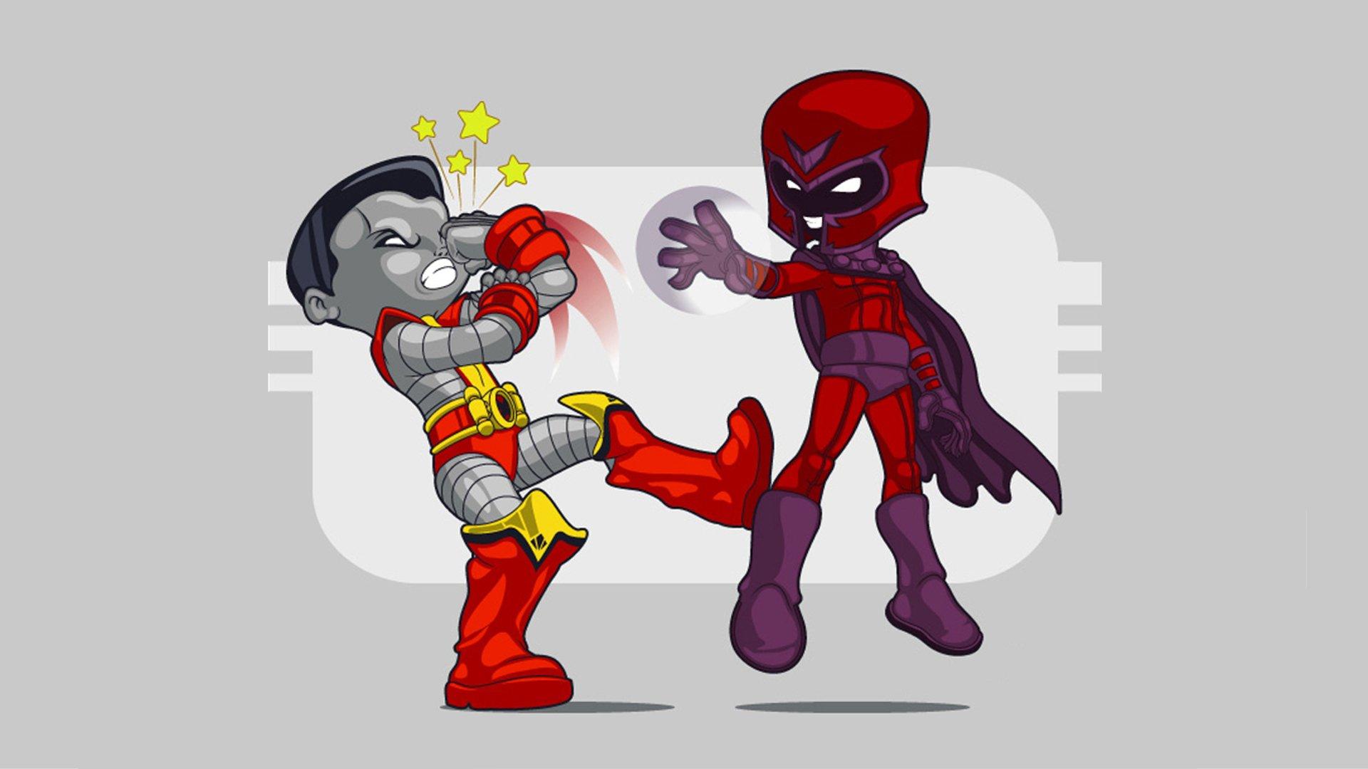 Cartoons X Men Colossus Magneto Marvel Comics Wallpaper