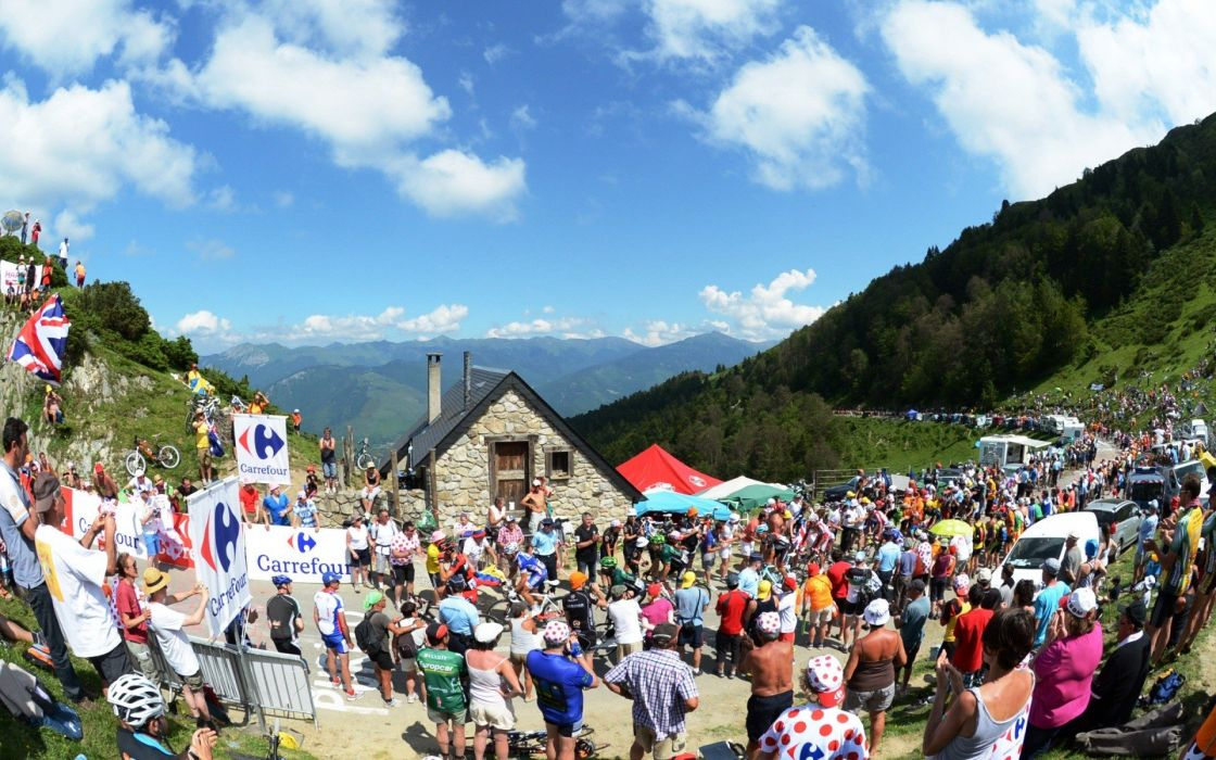 landscapes sports cycling Tour de France wallpaper